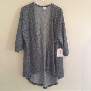 Lularoe Lindsay Blue/White Sweater Cardigan NWT L